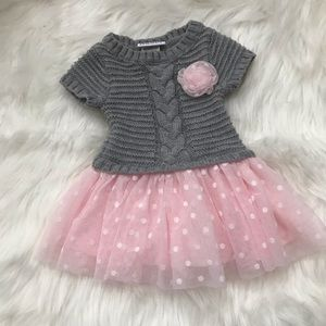 Knitted dress with tutu bottom